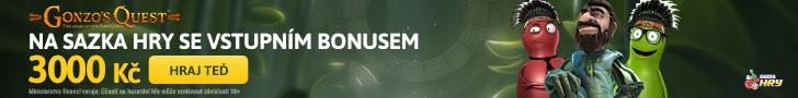 Sazka hry - online casino bonus 3.000 Kč