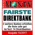 comdirect Bankentest von Focus Money Siegel